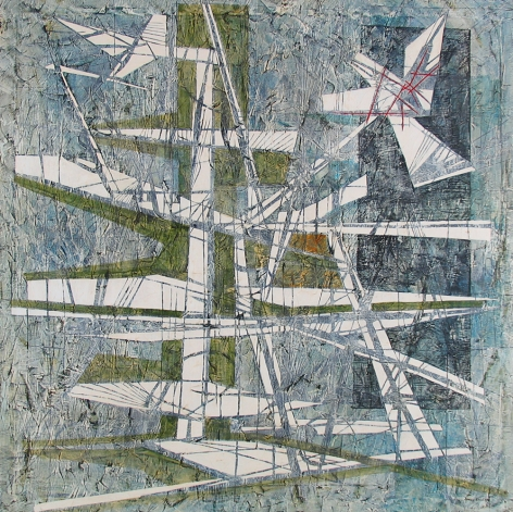 """Jimmy Ernst sold oil painting """"Future Construction""""."""