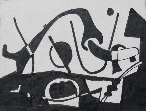 Vaclav Vytlacil untitled abstract black and white painting 003.