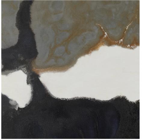 "Detail of ""Black and Grey #42"" by Stanley Twardowicz."
