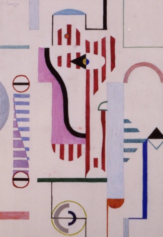 Sold untitled gouache by Alexander Corazzo.