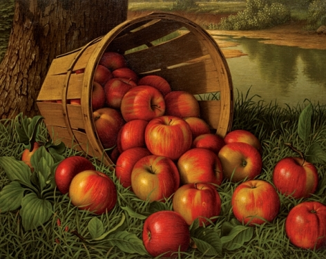 """Levia Wells Prenctice sold painting entitled """"Basket of Apples""""."""