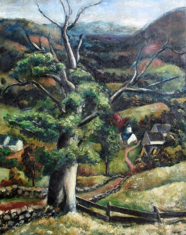 """Arnold Blanch painting entitled """"From Lake Hill""""."""