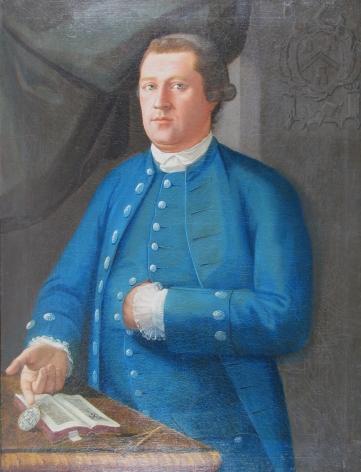 Man in Blue, a self-portrait of John Mare.
