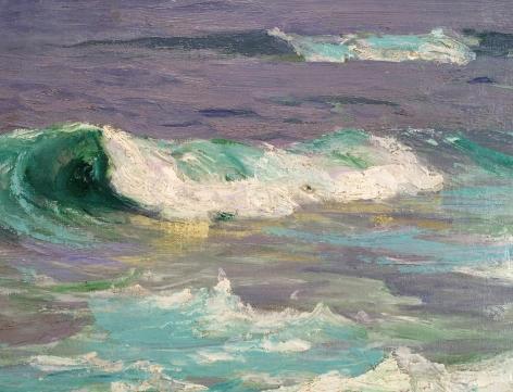 Detail Surf at Low Tide by Edward Potthast.