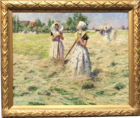 Frame view of Haymakers Zeeland by George Hitchcock.