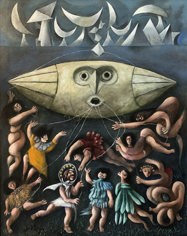 """""""Lords of the Sky"""" painting by Julio De Diego."""
