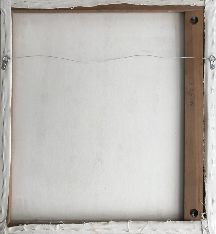 Verso of panel 4 of Untitled Four Panel Suite (Quadtych) by Robert Zakanitch.