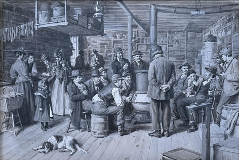 The Country Store as a Social Centre by A.B. Frost.