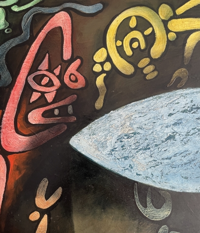 """Detail of """"Inevitable Day - Birth of the Atom"""" by Julio De Diego."""