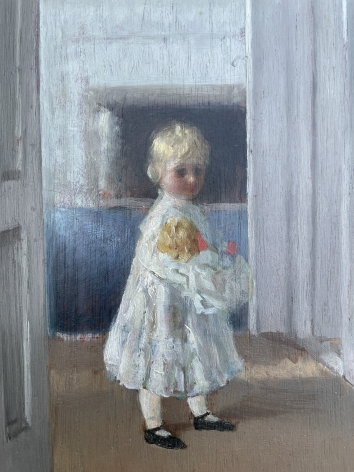 """Detail of """"Girl with Doll"""" by William Wallace Gilchrist."""