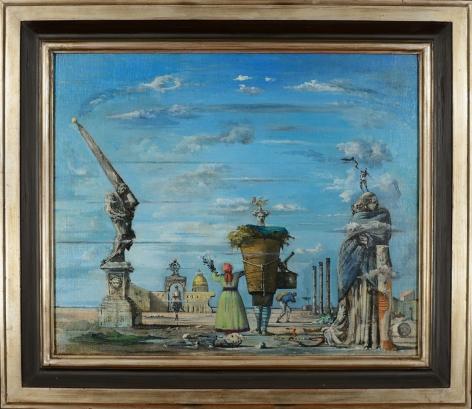 "Frame view of ""Vue Imaginaire de Rome"" by Eugene Berman."