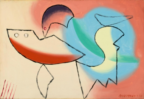 """Charles Biederman's abstract painting titled """"4-35""""."""