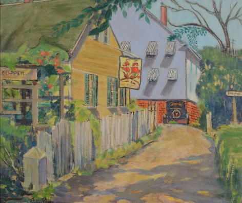 """Pauline Palmer painting entitled """"The Clipper, Provincetown""""."""