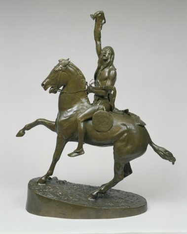 "Frederic Remington sold sculpture ""The Scalp""."