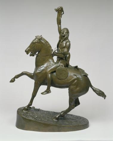 "Frederic Remington sold sculpture ""The Scalp""."