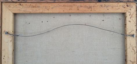 "Verso inscription on 1964 painting ""Fasnacht"" by Hans Burkhardt."