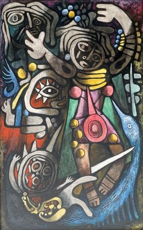 """Ceremonial Dancers"" by Julio De Diego."