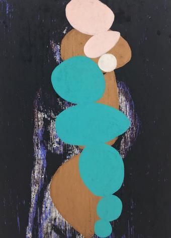 Enoc  Perez Shapes # 1, 2014 Nudes Oil on canvas