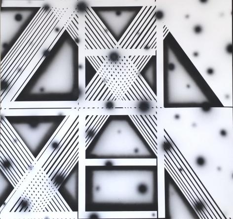 BRINTZ GALLERY, JOHN PHILLIP ABBOTT, Zen Zen, 2017, Acrylic and spray paint on canvas 62 by 66 inches, Unique Art