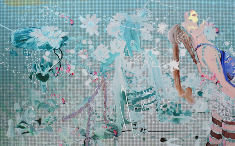 BRINTZ GALLERY_PETRA CORTRIGHT_FEMALE MUSCLE_Ford Body BUILDERS aDVISOR_hooked+on+a+feeling, 2020_59.75x95_Unique Art