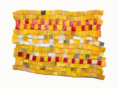BRINTZ GALLERY, SERGE ATTUKWEI CLOTTEY, Balanced efforts, 2015, Plastic, wire, and oil paints, 59 by 88 inches, Unique Art