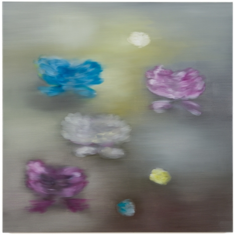 BRINTZ GALLERY, ROSS BLECKNER, Untitled, 2018, Oil on canvas, 48 by 48 inches, Flora, Unique Art