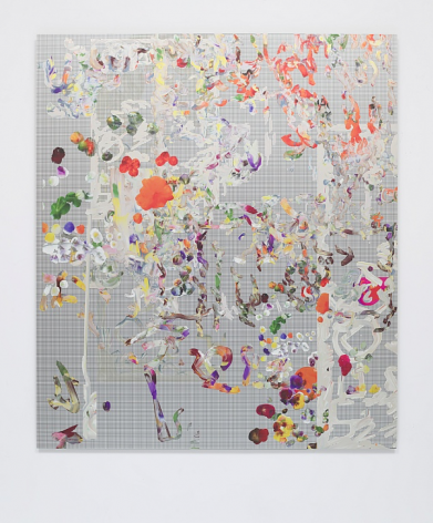 "Petra Cortright ""Dragonball Z,"" stations FUHITSU (France) ""HUNTING NEBRASKA"", 2019 Digital painting on anodized aluminum"