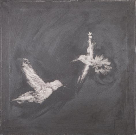 BRINTZ GALLERY, ROSS BLECKNER, Untitled, 2015, Oil on linen, 18 by 18 inches, Flora, Unique Art