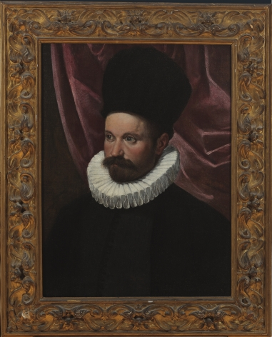 Ippolito Scarsella, called Scarsellino  (Ferrara, ca. 1550-1620)  Portrait of a Gentleman  Oil on canvas
