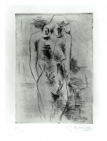 GEORGES BRAQUE  (1882-1863)  Étude de Nu, 1907-1908  Etching