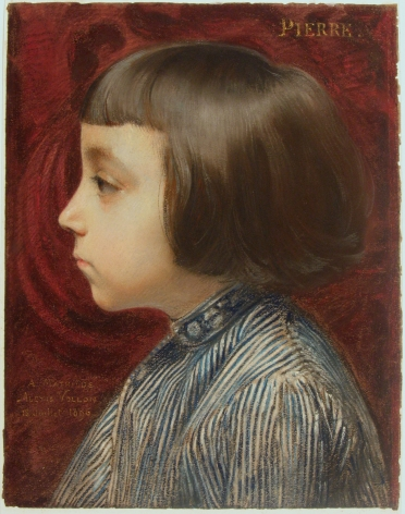 Alexis Vollon (Paris 1865 - 1945) Portrait of the Artist's Son, Pierre Pastel