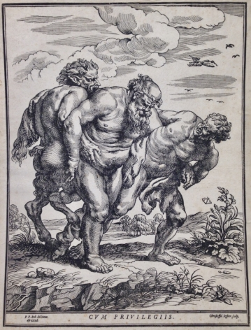 Christoffel Jegher, after Peter Paul Rubens (Flemish, 1596-1652/53) Silenus Accompanied by a Satyr and a Faun Woodcut, c 1635