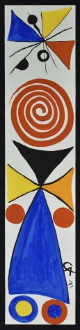 ALEXANDER CALDER (American, 1898-1976)  Kakémono, 1971  Gouache and ink on paper