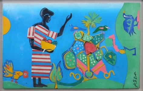 Romare Bearden (1912-1988) Sunrise Garden, 1982 Collage on board