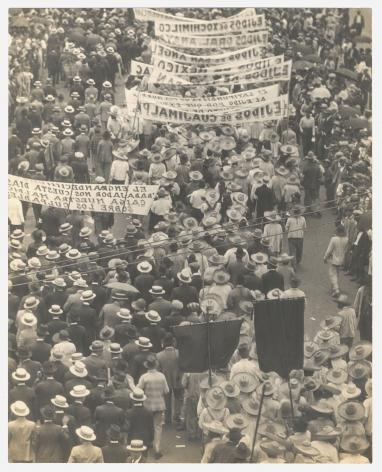 Tina Modotti  Worker's Parade, Mexico City, 1926.