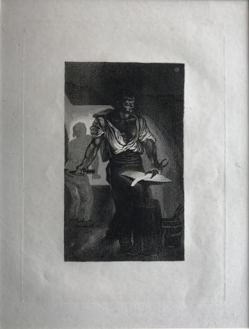 Eugène Delacroix (French, Charenton-Saint-Maurice 1798–1863 Paris)  Un Forgeron (The Blacksmith) Aquatint, and drypoint, 1833