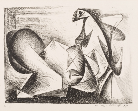 HANS BURKHARDT  (1904-1994)  The Lovers, 1948  Lithograph