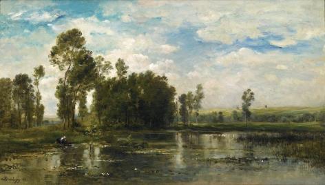 CHARLES FRANÇOIS DAUBIGNY  French, 1817-1878  A Summer Day (Jour d'Été)  1871