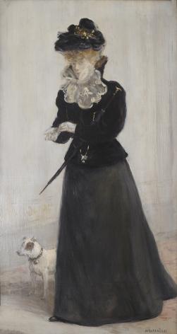 JEAN-FRANÇOIS RAFFAËLLI  French, 1850-1924  Portrait d'une Élegante