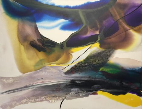 Paul Jenkins  Phenomenon Land in Sight  July 1970  Acrylic on canvas