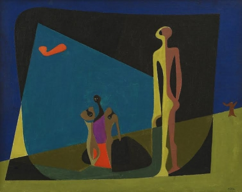 Charles Alston (1907-1977) Untitled, c. 1955 Oil on board