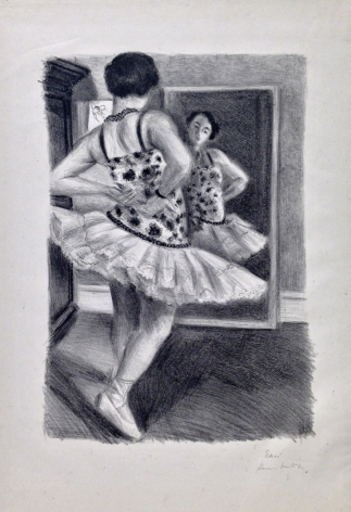 Henri Matisse (1869-1954) Dancer Reflected in the Mirror Lithograph, 1927, One of five trial proofs on chine, signed and annotated in pencil, Essai Henri Matisse