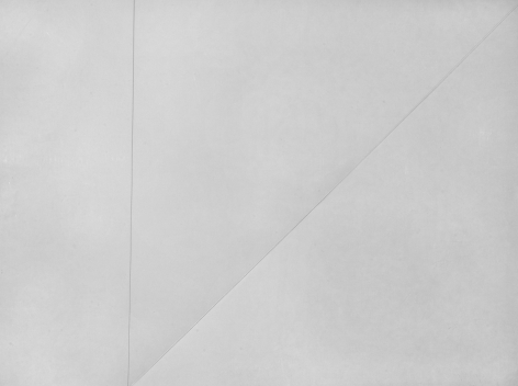 Dorothea Rockburne Untitled, 1972 Folded paper and pencil (double-sided)