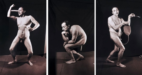 Untitled Triptych from I Am Not I series