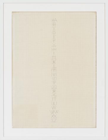 Alfabeto (Scrittura a due mani), 1970