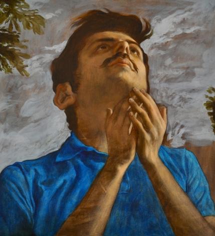 Salman Toor THE BELIEVER WITH MUSTACHE 2013 Oil on linen 29 x 27 in.