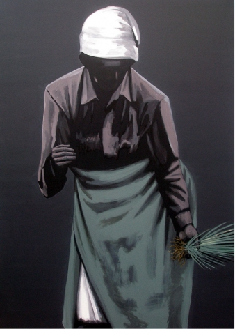 Rajan Krishnan Peasant Woman  2011 Acrylic on canvas 84 x 60 in.