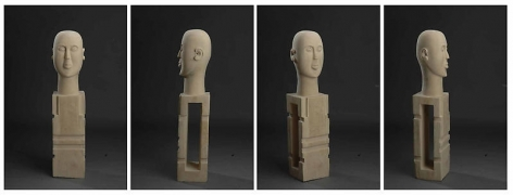 Mayyur Gupta SILENCE 2007 - 08 Wood 35.5 x 8 x 7 in. UNAVAILABLE (Multiple views of the same sculpture)
