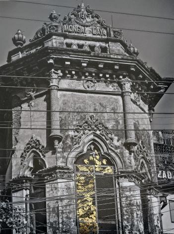 Najmun Nahar Keya   Kintsugi Dhaka (6)  Photograph on archival paper, gold leaf, archival glue  13 x 17 in.  2019
