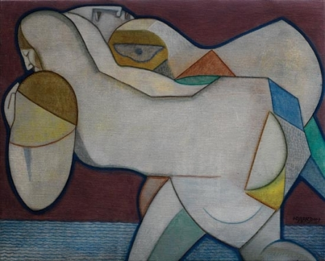 Neeraj Goswami BY THE RIVERSIDE 2006 Oil on canvas 16 x 20 in.